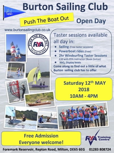 Push The Boat Out Open Day 2018