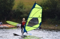 RYA Start windsurfing beginners course at Burton Sailing Club