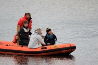 Power boat training courses at Burton Sailing Club, Foremark reservoir, Derbyshire.