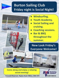 New Look Friday Nights at Burton Sailing Club