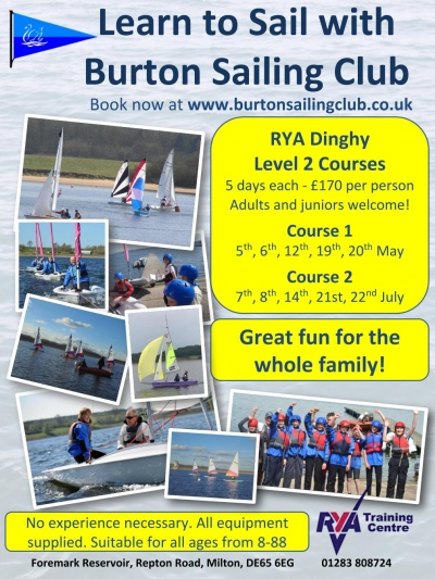 We are now taking bookings for our 2018 Beginner sailing courses