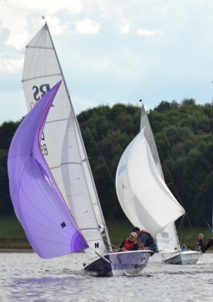 Sailing with Spinnakers at Burton Sailing Club