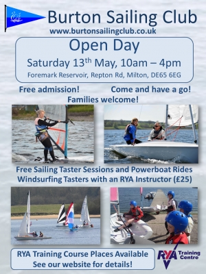 Open Day - 13th May