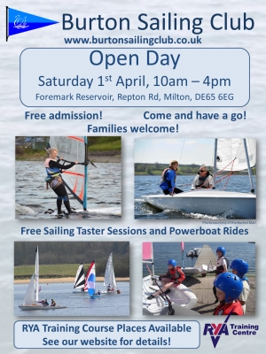 Open Day - 1st April