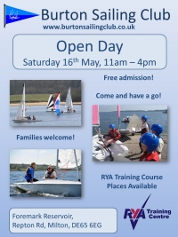 Open Day - 16th May