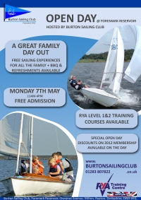 Burton Sailing Club Open Day 2012 - Sail For Gold!
